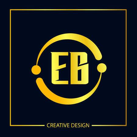 Initial EB Letter Logo Template Design