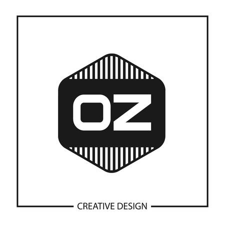 Wstępny projekt szablonu logo litery OZ Logo