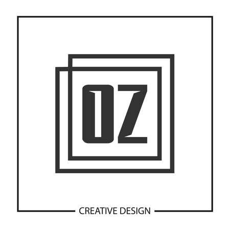 Initial OZ Letter Logo Template Design Logo