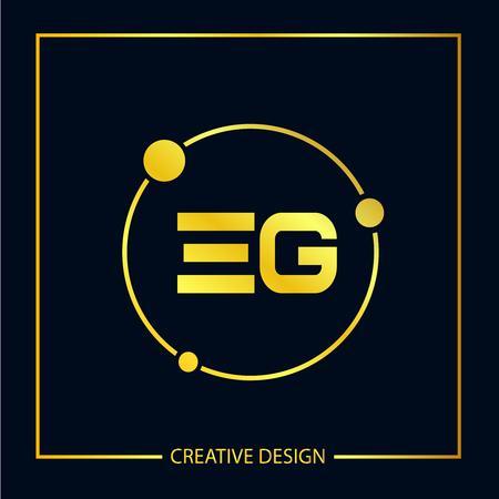Initial EG Letter Logo Template Design
