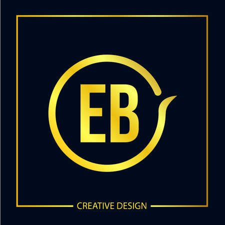 Initial EB Letter Logo Template Design