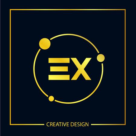 Initial EX Letter Logo Template Design Logo