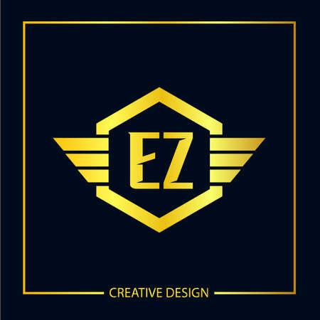 Ursprüngliches EZ Brief Logo Vorlagendesign Logo