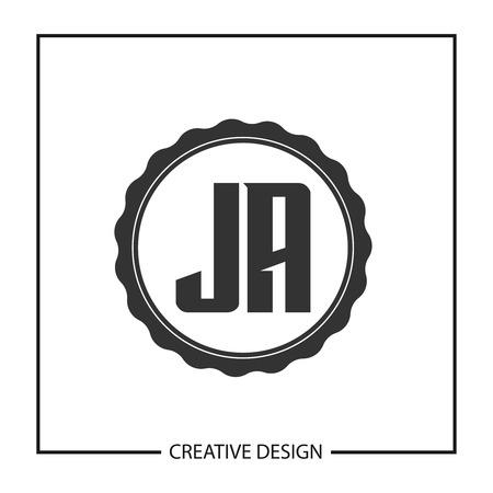 Initial JA Letter Logo Template Design