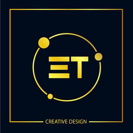 Initial ET Letter Logo Template Design