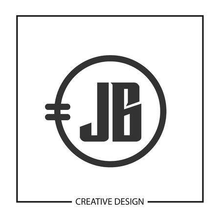 Initial JB Letter Logo Template Design