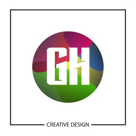 Initial GH Letter Logo Template Design