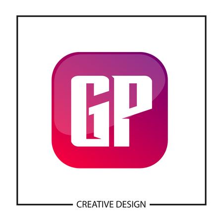 Initial GP Letter Logo Template Design
