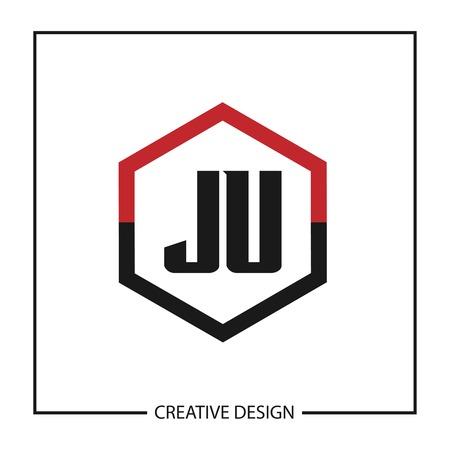 Initial JU Letter Logo Template Design