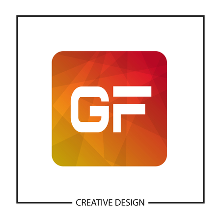 Initial GF Letter Logo Template Design