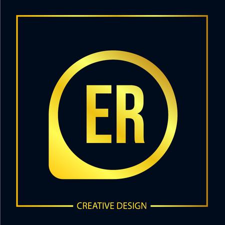Initial ER Letter Logo Template Design Logó
