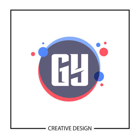 Initial GY Letter Logo Template Design