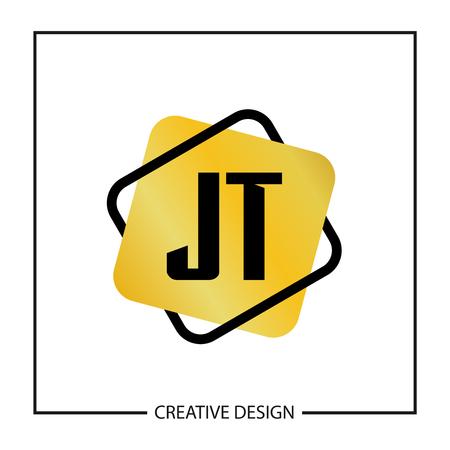 Initial JT Letter Logo Template Design