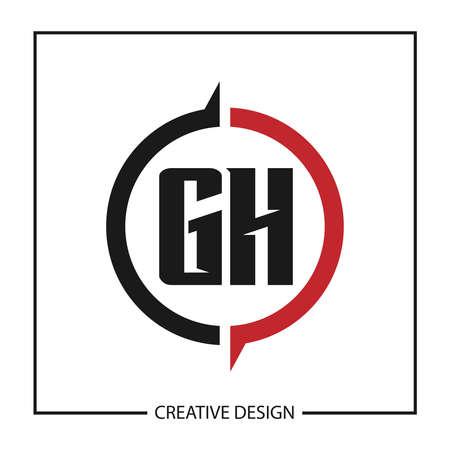 Initial GH Letter Logo Template Design Logó