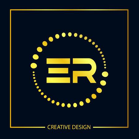 Initial ER Letter Logo Template Design