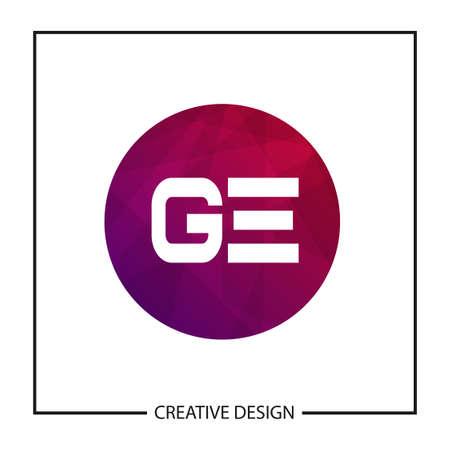 Initial GE Letter Logo Template Design