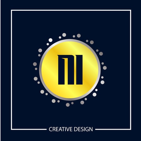 Initial NI Letter Logo Template Design