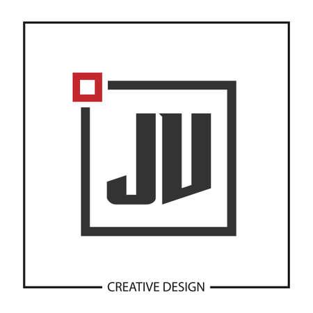 Initial JV Letter Logo Template Design