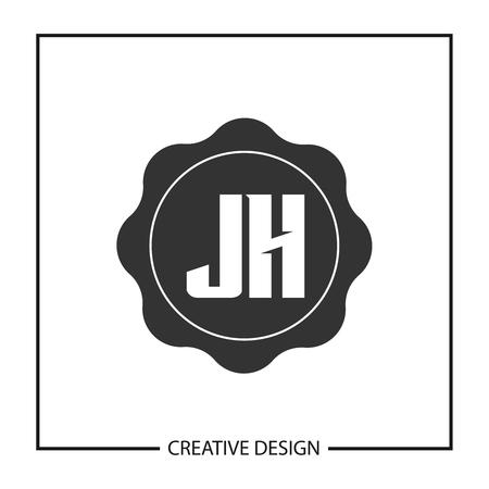 Initial JH Letter Logo Template Design Logó
