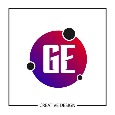 Initial GE Letter Logo Template Design