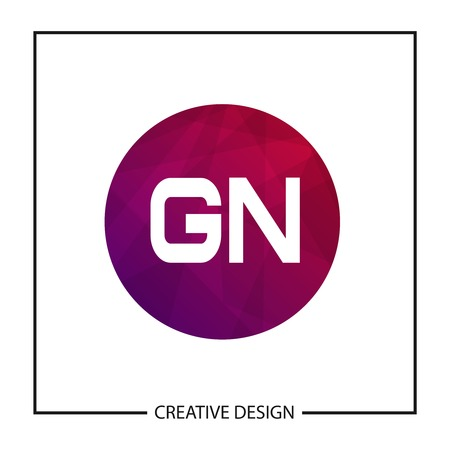 Initial GN Letter Logo Template Design