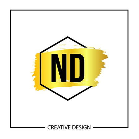 Initial ND Letter Logo Template Design