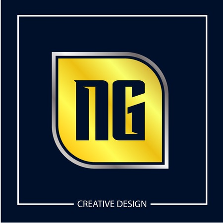 Initial NG Letter Logo Template Design