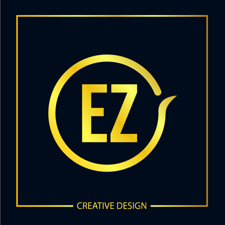 Initial EZ Letter Logo Template Design Logo