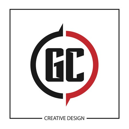 Initial GC Letter Logo Template Design
