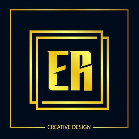 Initial ER Letter Logo Template Design Illustration