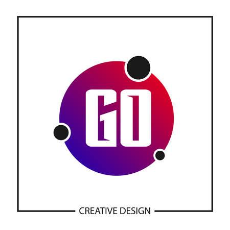 Initial GO Letter Logo Template Design