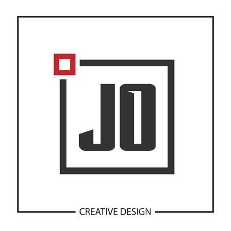 Initial JO Letter Logo Template Design