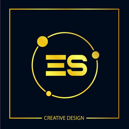 Initial ES Letter Logo Template Design