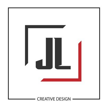 Initial JL Letter Logo Template Design Vectores