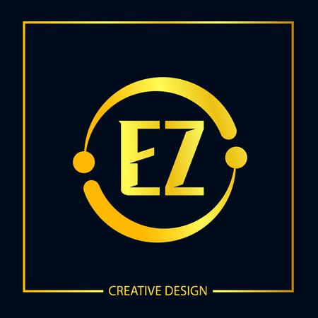 Ursprüngliches EZ Brief Logo Vorlagendesign