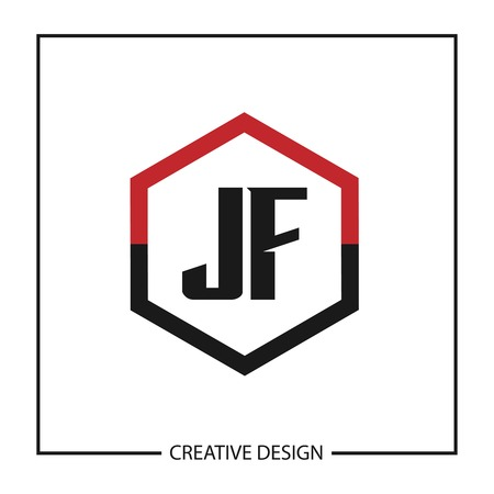 Initial JF Letter Logo Template Design