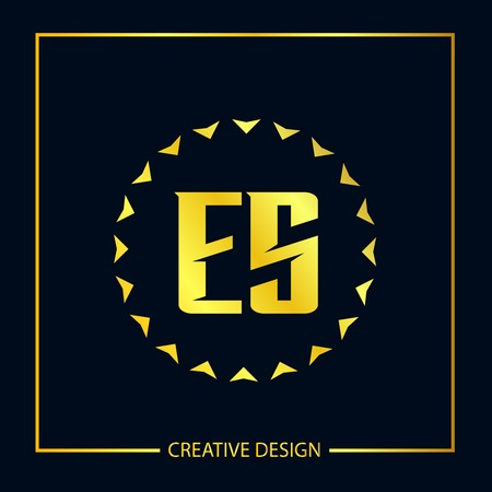 Initial ES Letter Logo Template Design Stock Illustratie