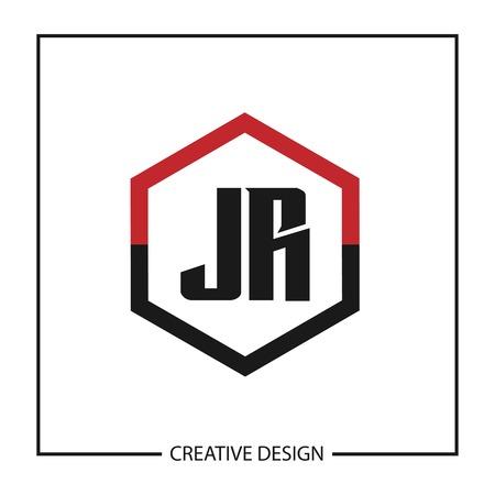 Initial JR Letter Logo Template Design
