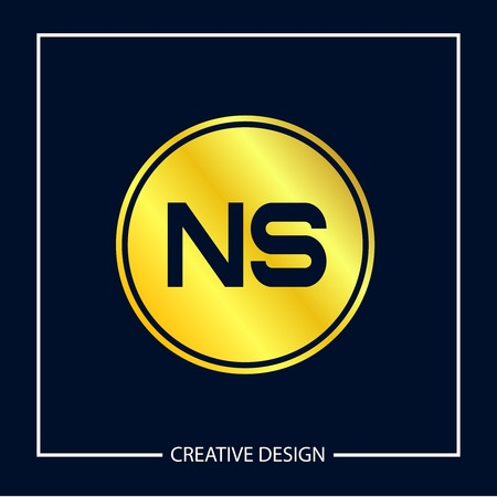 Initial NS Letter Logo Template Design