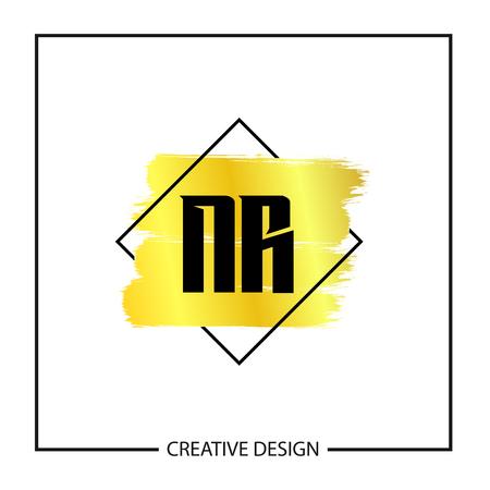 Initial NR Letter Logo Template Design