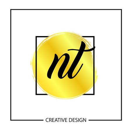 Initial NT Letter Logo Template Design