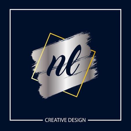 Initial NL Letter Logo Template Design