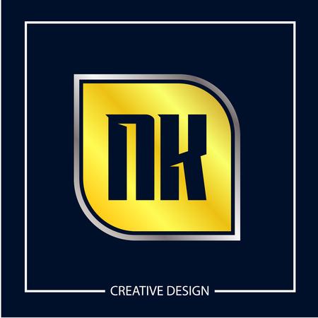Initial NK Letter Logo Template Design Logó