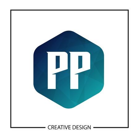 Initial PP Letter Logo Template Design