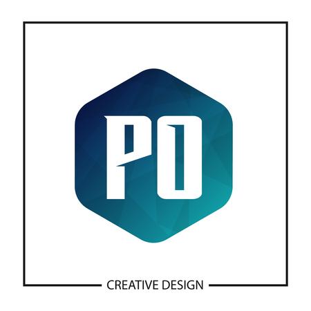 Initial PO Letter Logo Template Design Banco de Imagens - 112644748
