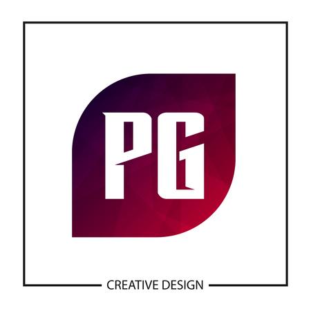 Initial PG Letter Logo Template Design