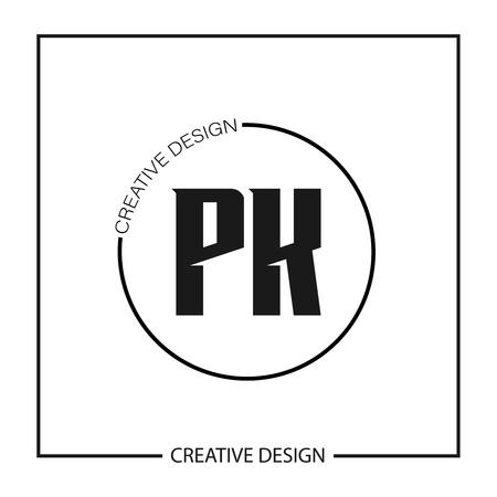 Initial PK Letter Logo Template Design