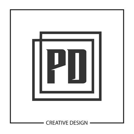 Initial PD Letter Logo Template Design