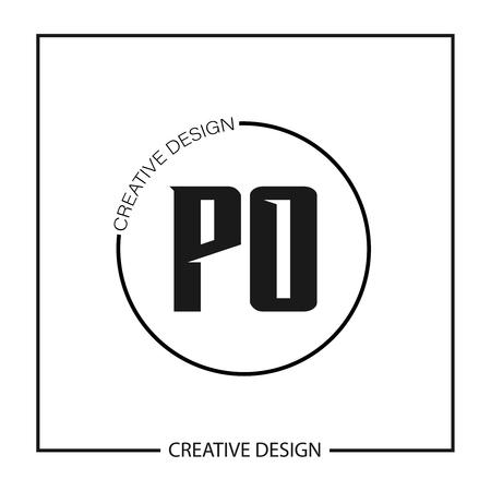 Initial PO Letter Logo Template Design Ilustração