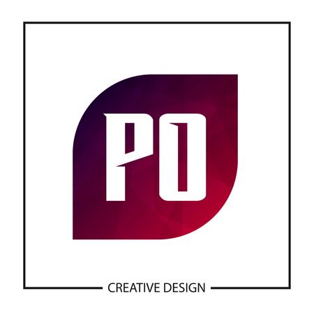 Initial PO Letter Logo Template Design Banco de Imagens - 112645320
